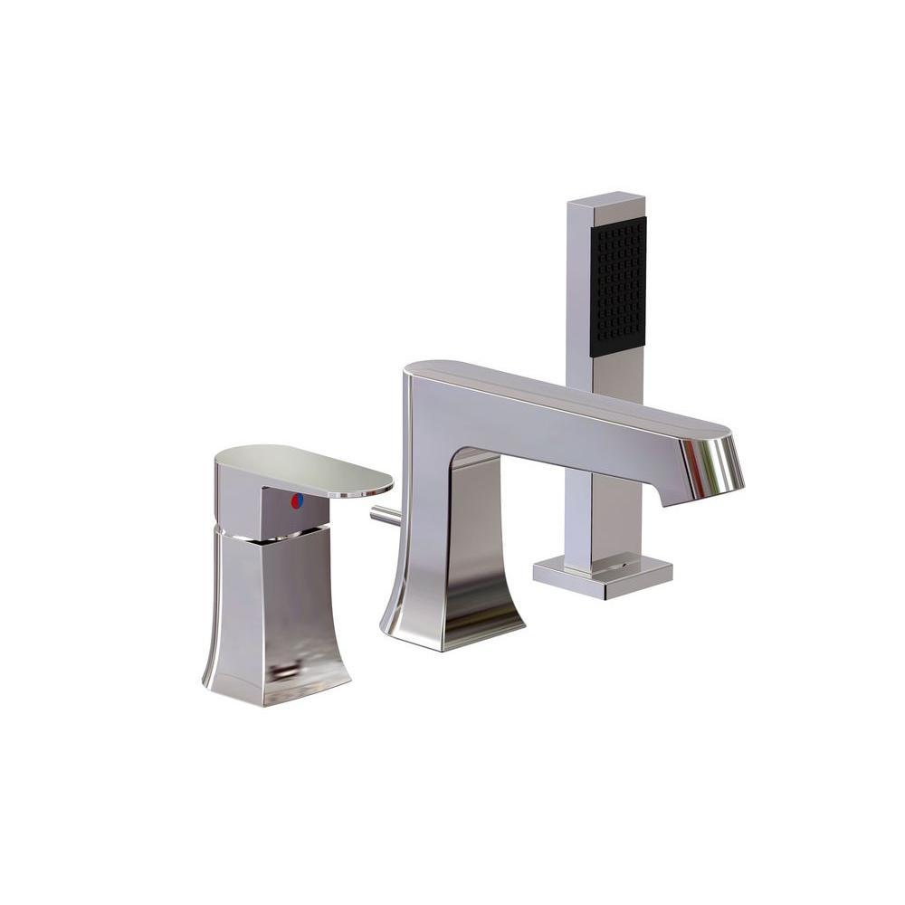 Universal Tubs Endless Series 1-Handle Deck-Mount Roman Tub Faucet ...