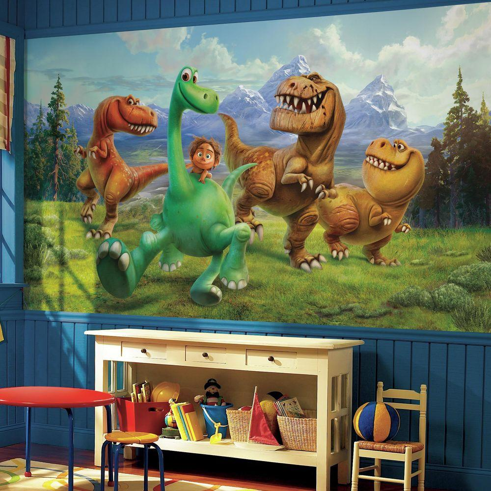 H The Good Dinosaur Xl Chair Rail 7 Panel Prepasted Wall Mural Jl1372m Home Depot