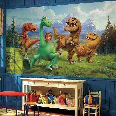 72 in. W x 126 in. H The Good Dinosaur XL Chair Rail 7-Panel Prepasted Wall Mural