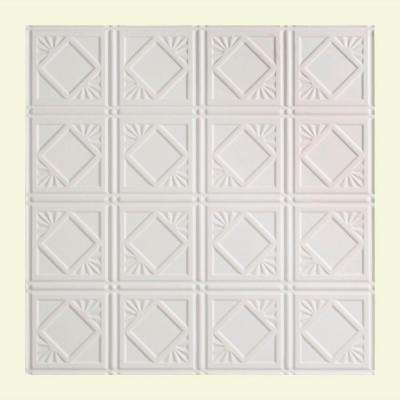 Traditional 4 - 2 ft. x 2 ft. Lay-in Ceiling Tile in Matte White