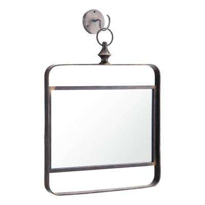 Square Black Decorative Mirror