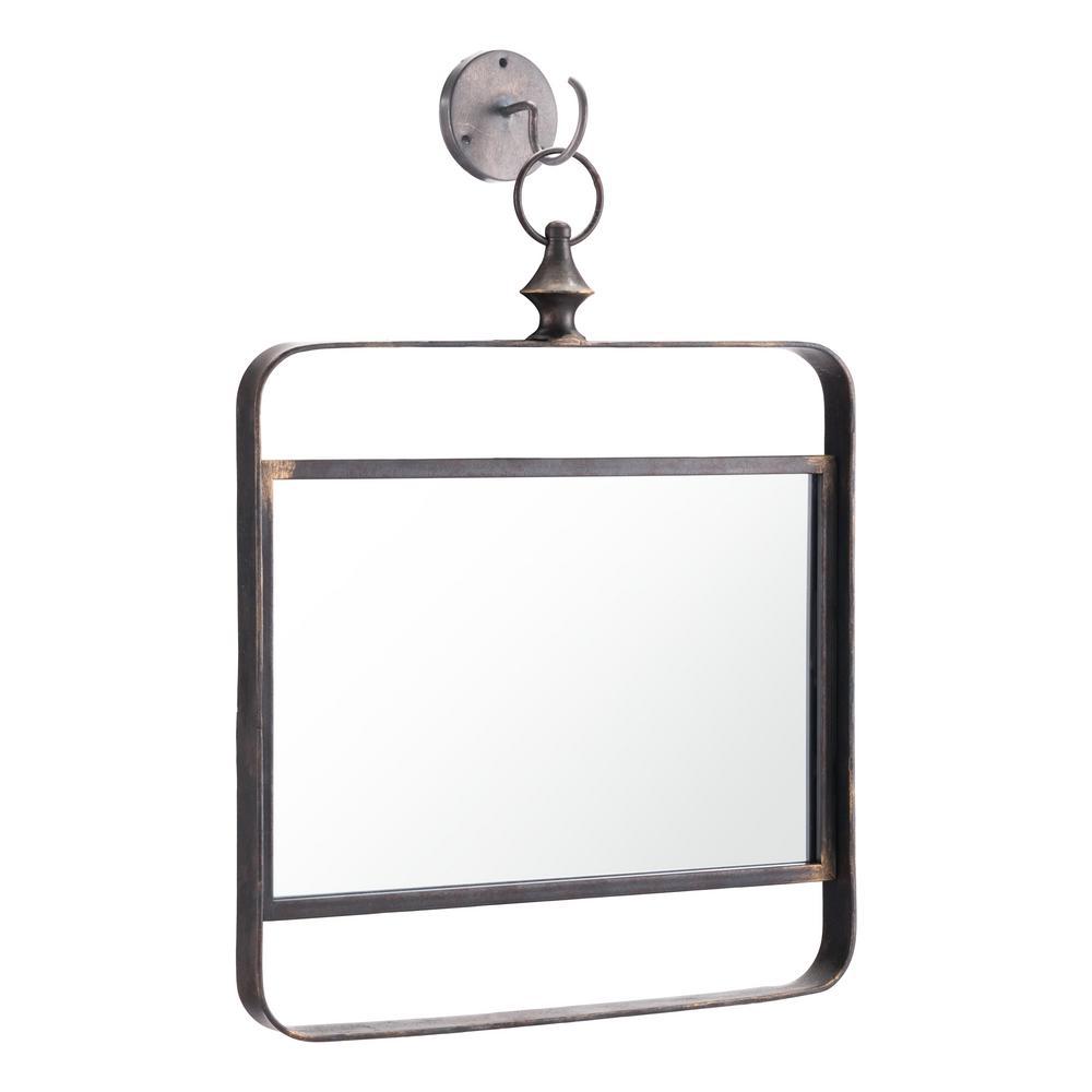 Square Black Decorative Mirror