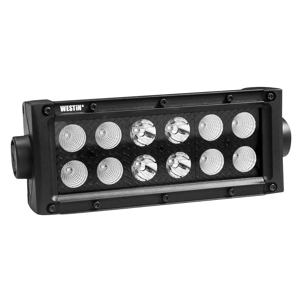B-FORCE LED Light Bar Double Row 6 inch Combo w/3W Cree - Black