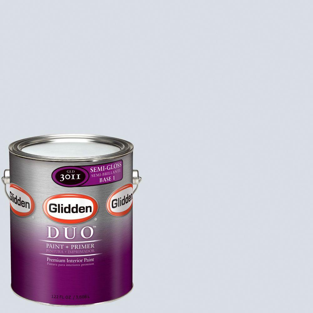 Glidden DUO Martha Stewart Living 1-gal. #MSL143-01F Frost Semi-Gloss Interior Paint with Primer-DISCONTINUED