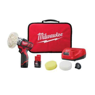 M12 12-Volt Lithium-Ion Cordless Variable Speed Polisher/Sander Kit W/(2) 1.5Ah Battery, Accessories, Charger & Tool Bag