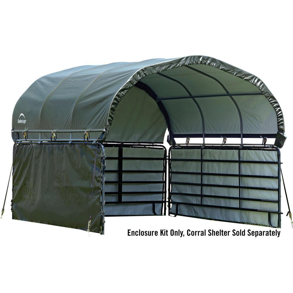 ShelterLogic 12 ft. x 12 ft. Enclosure Kit for Corral Shelter in Green