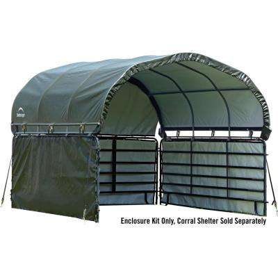 12 ft. x 12 ft. Enclosure Kit for Corral Shelter in Green