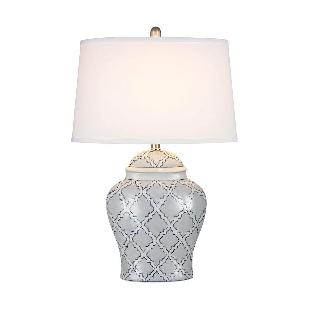 Titan lighting aragon 28 in blue and white glaze table lamp tn titan lighting aragon 28 in blue and white glaze table lamp tn 998407 the home depot geotapseo Image collections