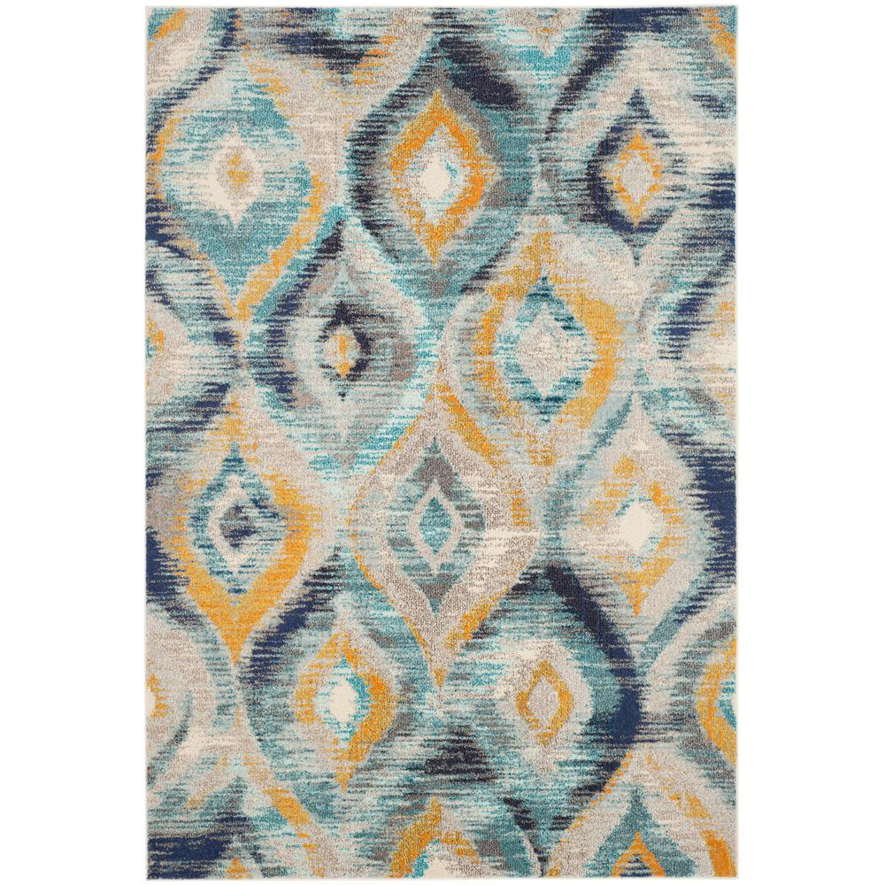 Nice Safavieh Monaco Blue/Multi 4 Ft. X 6 Ft. Area Rug