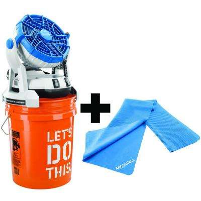 18-Volt Bucket Top Misting Fan and Cooling Towel