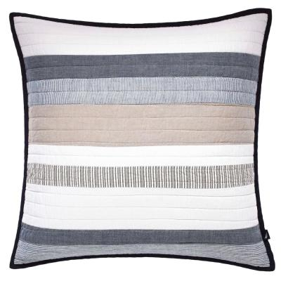 Tideway Blue Cotton 20 in. x 20 in. Decorative Pillow