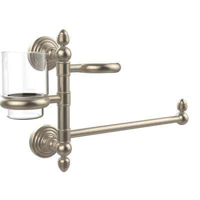 Prestige Skyline Collection Hair Dryer Holder and Organizer in Antique Pewter