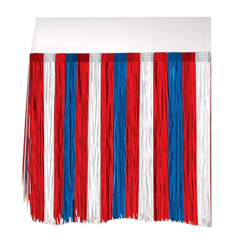 29 in. x 9 ft. Patriotic Fringe Table Skirt