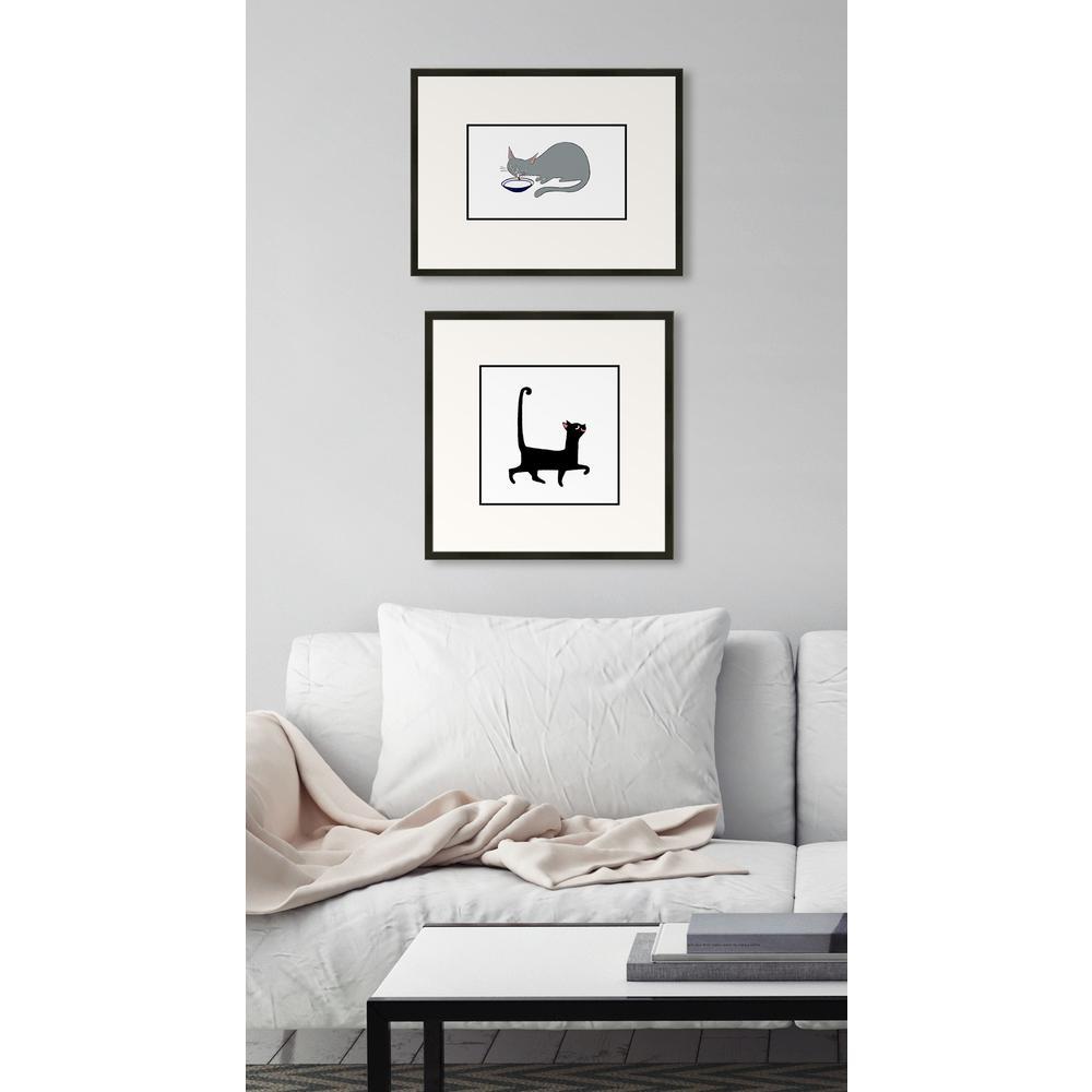 "16 in. x 16 in. ""Sassy Cat"" Framed Giclee Print Wall Art"