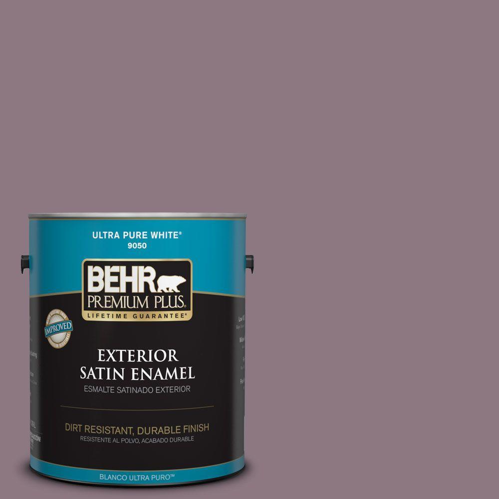 1-gal. #BNC-20 Purple Rubiate Satin Enamel Exterior Paint