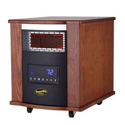 1500-Watt 4-Element Large Room Electric Portable Infrared Heater with UV Germicidal Air Purification and Remote Control