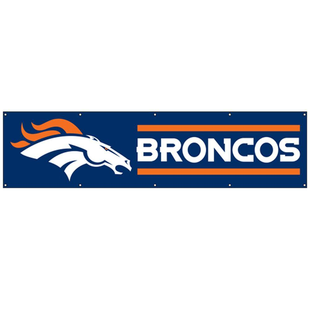Party Animal 8 ft. x 2 ft. NFL License Broncos Team Banner-DISCONTINUED