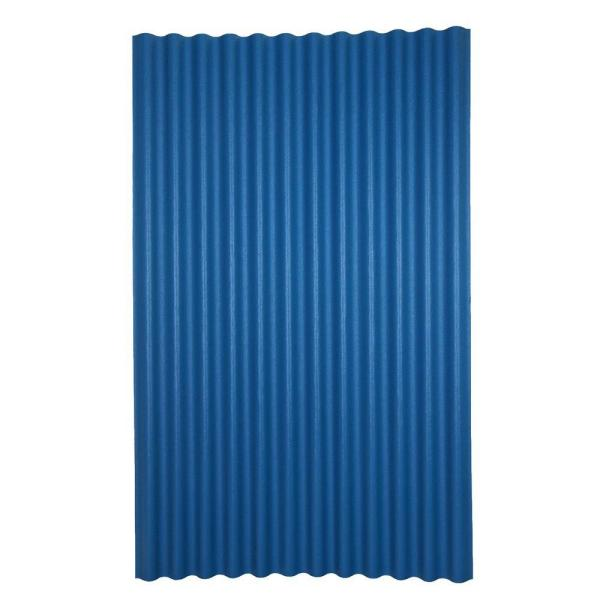 Ondura 6 Ft 7 In X 4 Ft Asphalt Corrugated Roof Panel In Blue 155 The Home Depot