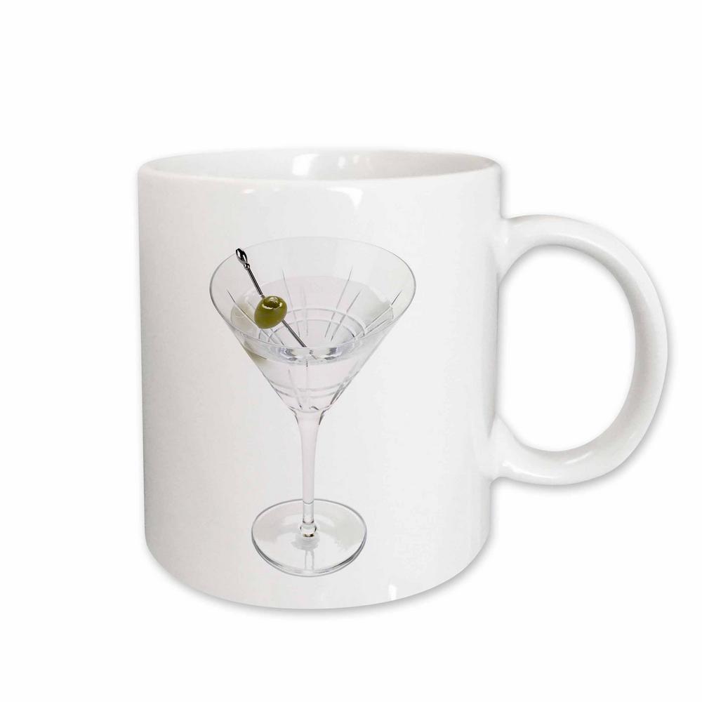 Fruit Food 11 oz. White Ceramic Martini Mug