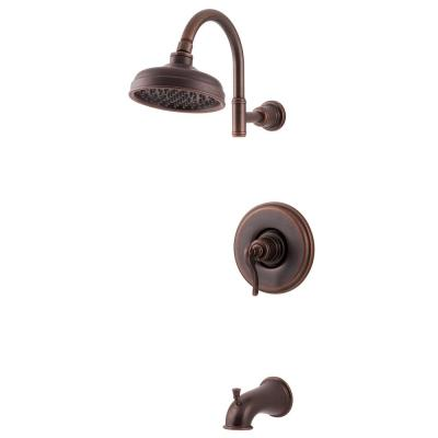 Ashfield 1-Handle 1-Spray Tub and Shower Trim Kit in Rustic Bronze (Valve Not Included)
