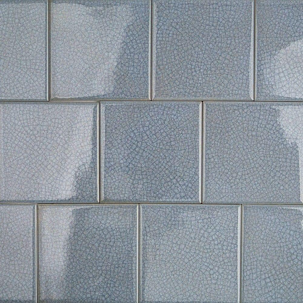 Splashback Tile Roman Selection Iced Blue 4 in. x 4 in. x 8 mm Glass ...