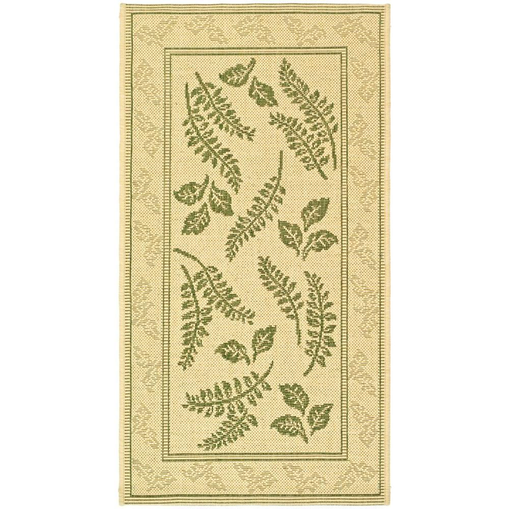 Safavieh Courtyard Natural/Olive 2 ft. 7 in. x 5 ft. Indoor/Outdoor Area Rug