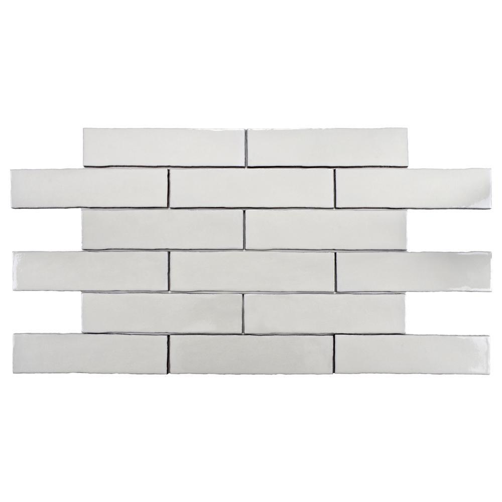 4 inch square ceramic tiles compare prices at nextag merola tile alaska craquelle white 3 in x 12 in ceramic dailygadgetfo Images