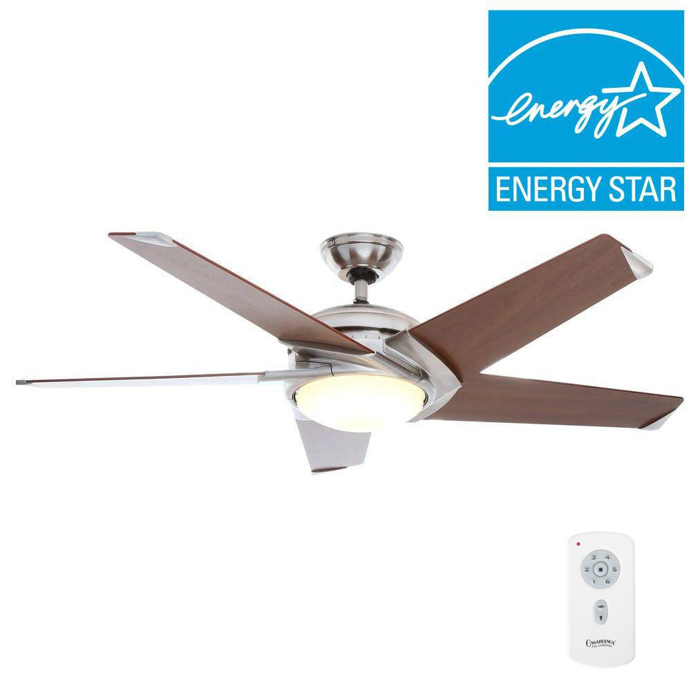 Casablanca Stealth DC 54 in Indoor Brushed Nickel LED Ceiling Fan