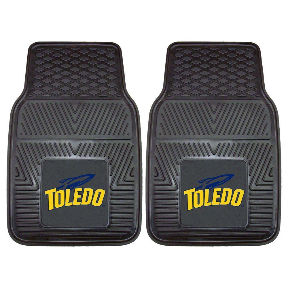 NCAA University of Toledo Heavy Duty 2-Piece 18 in. x 27 in. Vinyl Car Mat
