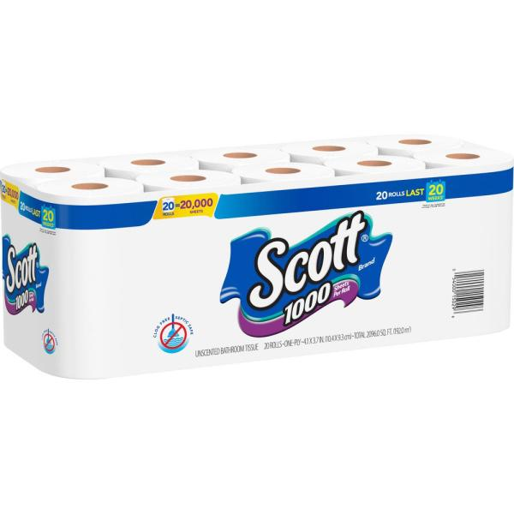 Scott, KCC13217, Standard Roll Bathroom Tissue, 80 / Carton, White