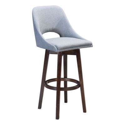 Ashmore 42.9 in. Charcoal Gray Bar Chair