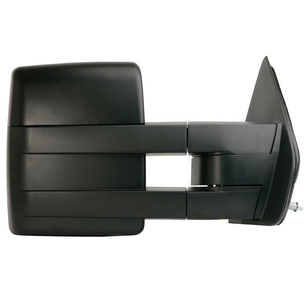 towing mirror for 04-08 ford f150 extendable with signal and puddle lamp  textured black foldaway rh heated power
