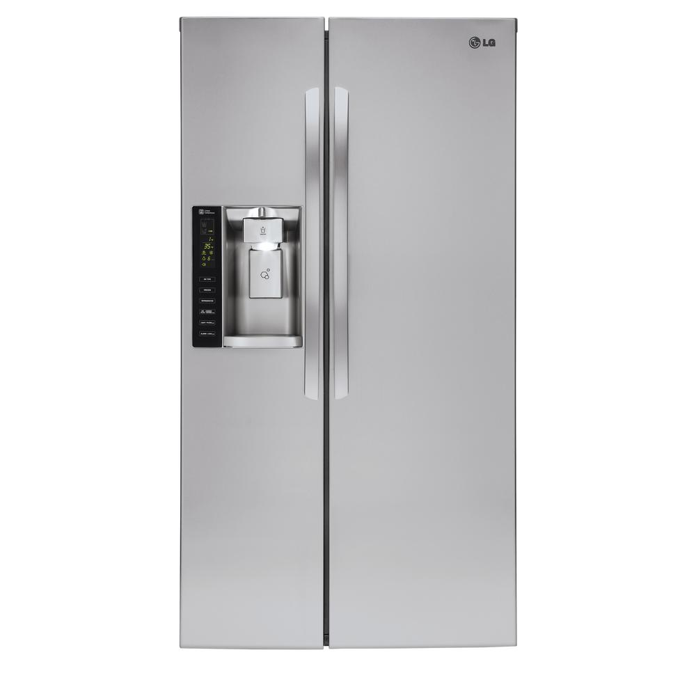LG Electronics 21.9 cu. ft. Side-by-Side Refrigerator in Stainless Steel, Counter Depth