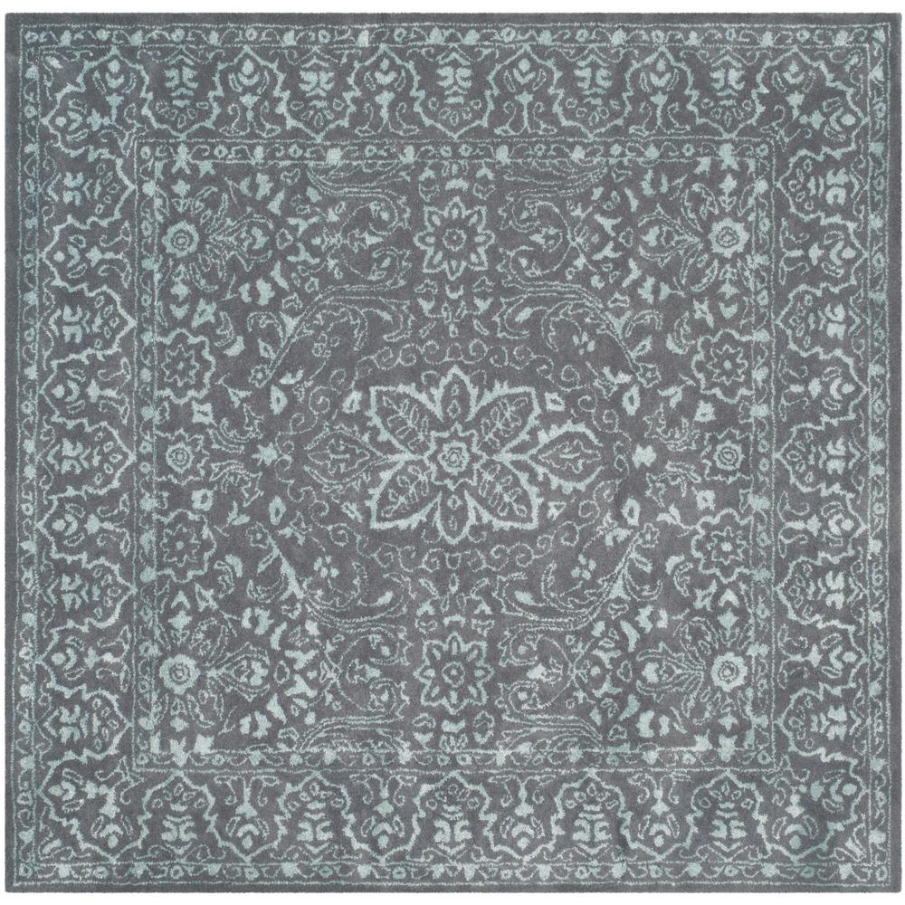 Safavieh Glamour Opal Gray 6 Ft X 6 Ft Square Area Rug