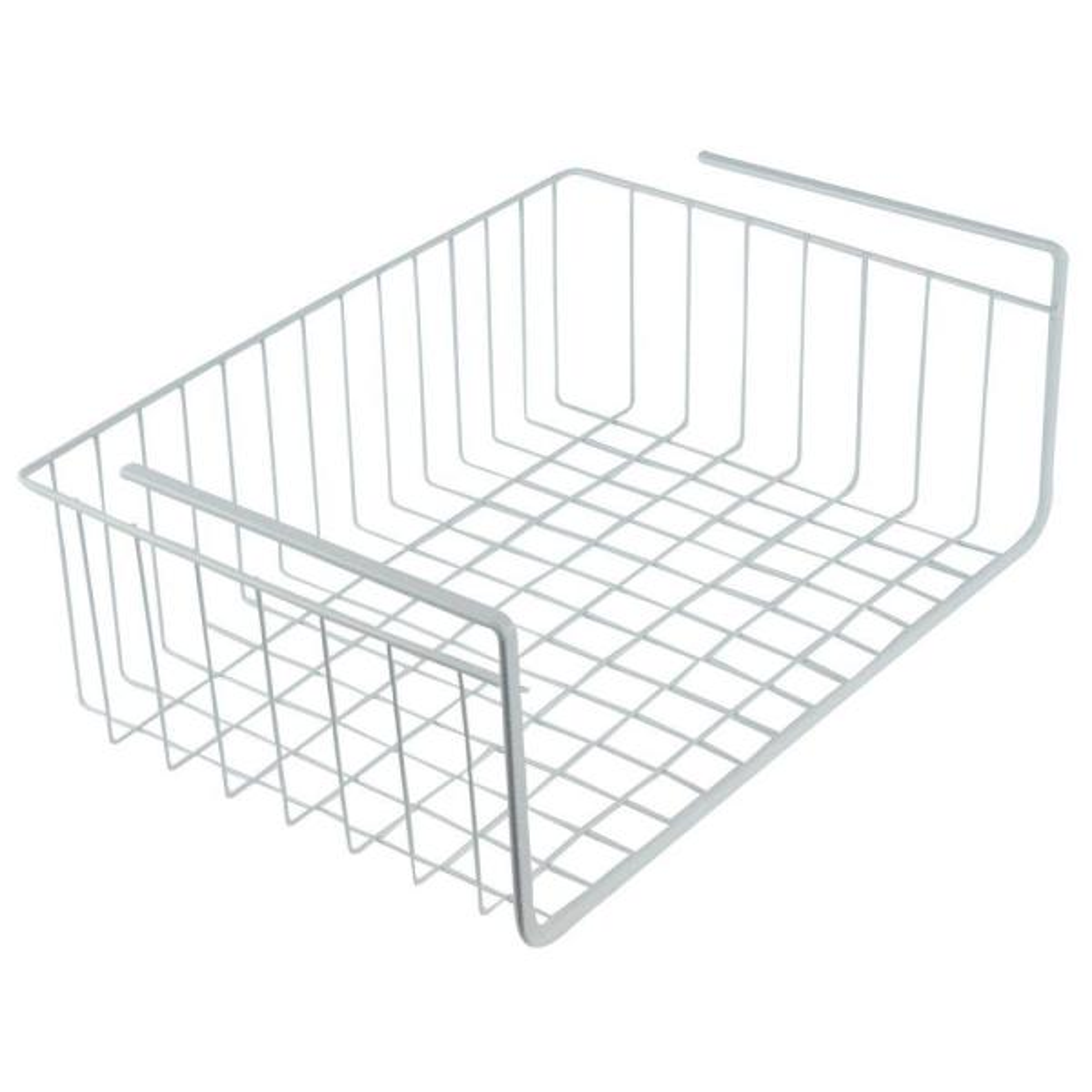 Southern Homewares 15 in. White Wire Under Shelf Storage Organization Basket