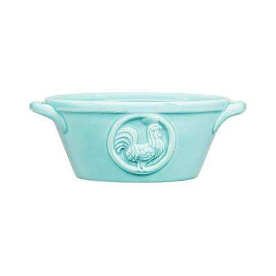 Meda 16 oz. Aqua Oval Bowl