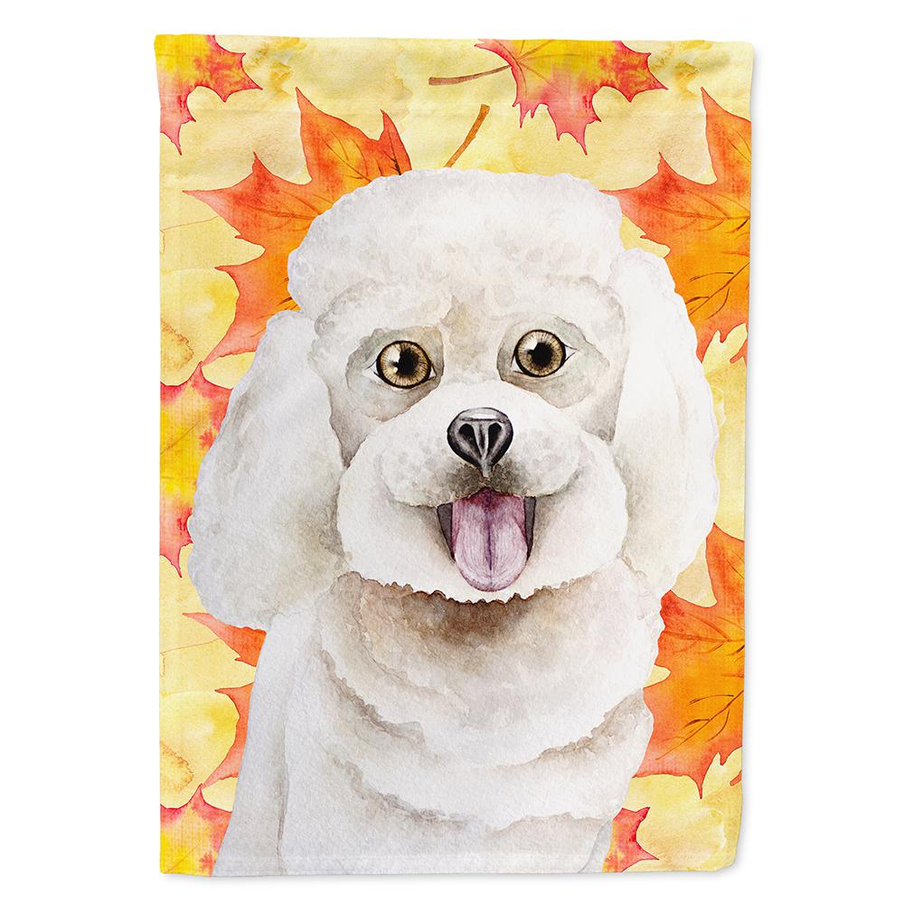 11 in. x 15-1/2 in. Polyester Bichon Frise Fall 2-Sided 2-Ply
