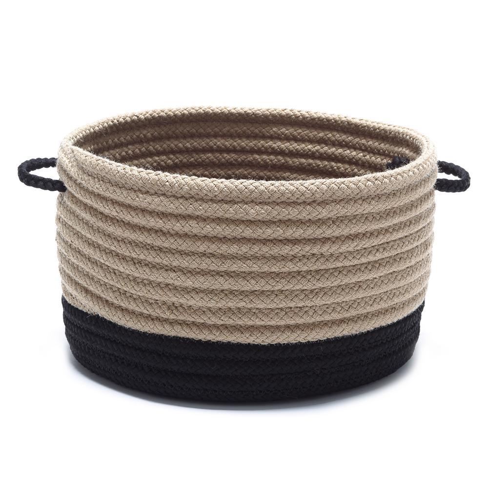 Colonial Mills Harbor Black Round Polypropylene Basket HA01A015X018
