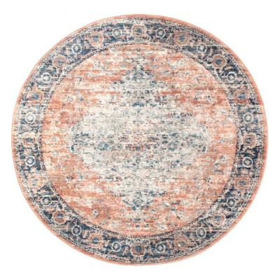Piper Shaded Snowflakes Beige 6 ft. Round Area Rug