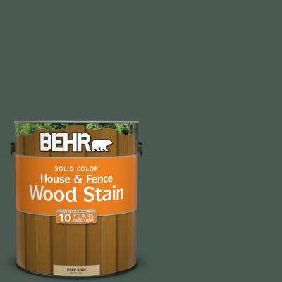 1 gal. #S420-7 Secluded Woods Solid Color House and Fence Exterior Wood Stain