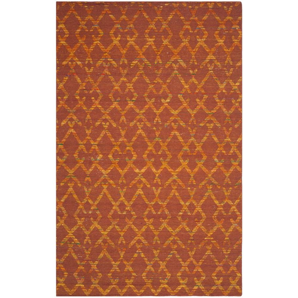 Safavieh Straw Patch Rust/Gold 4 ft. x 6 ft. Area Rug