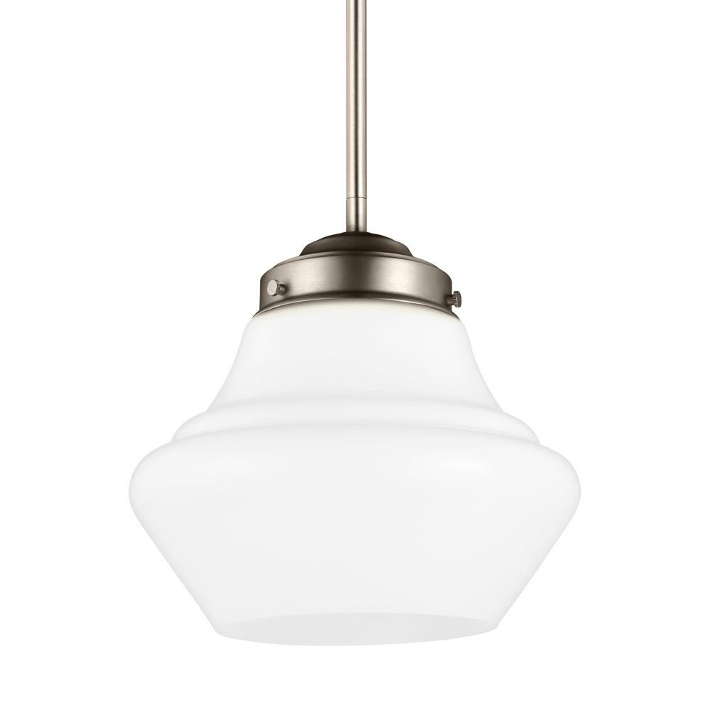 Alcott 1-Light Satin Nickel Pendant