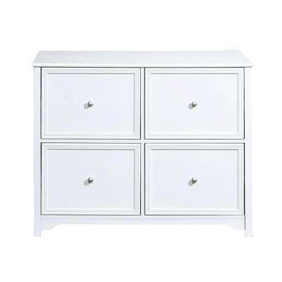 Oxford White 4-Drawer File Cabinet