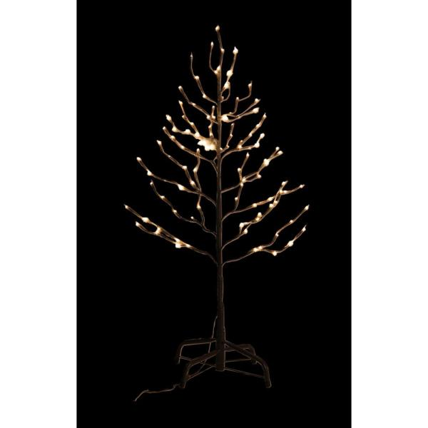 Lightshare 3 Ft Pre Lit Led Star Light Tree With Brown And 112 Warm White Lights Wqs112b3ft Hd The Home Depot