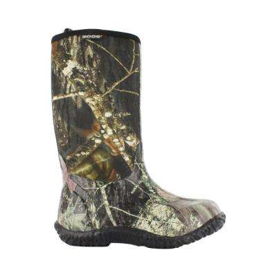 Classic Camo Kids 11 in. Size 6 Mossy Oak Rubber with Neoprene Waterproof Boot