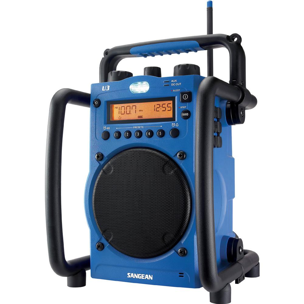 Sangean AM/FM Ultra Rugged Digital Tuning Radio in Blue