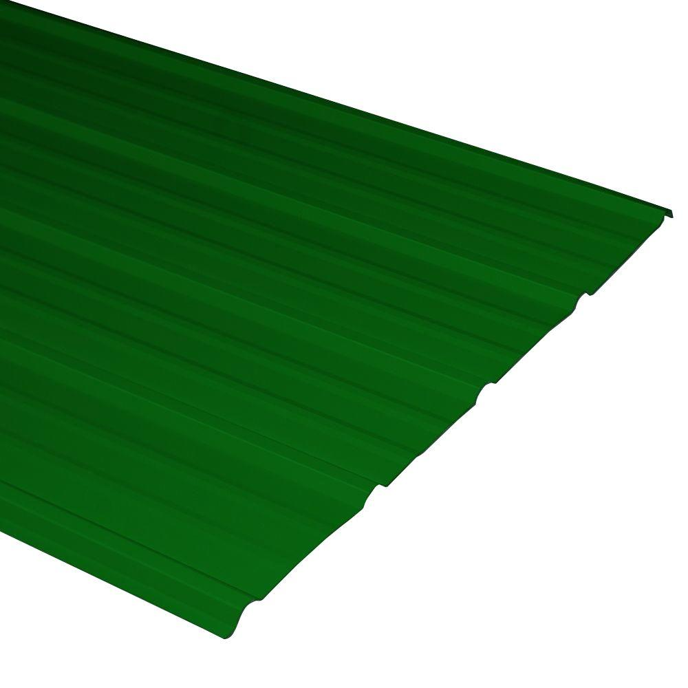 Metal Sales Pro-Panel II 3 ft. x 10 ft. 29-Gauge Steel Forest Green Roof and Wall Panel