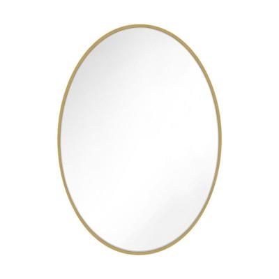 Kit 36 in. x 24 in. Burnished Brass Transitional Oval Mirror
