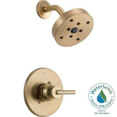 Trinsic 1-Handle Wall Mount Shower Faucet Trim Kit in Champagne Bronze with H2Okinetic (Valve Not Included)