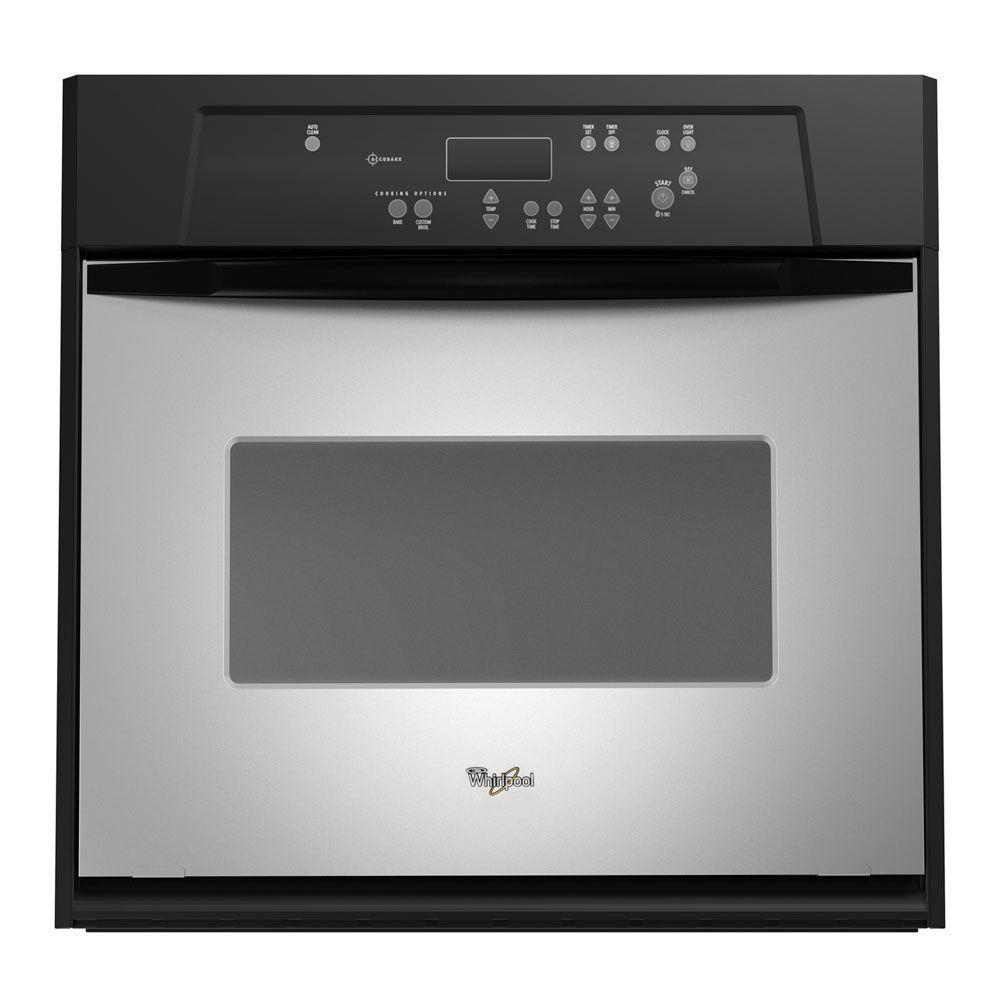 Whirlpool 24 in. Single Electric Wall Oven Self-Cleaning in Stainless Steel